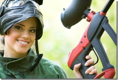 Get Girl to Play Paintball